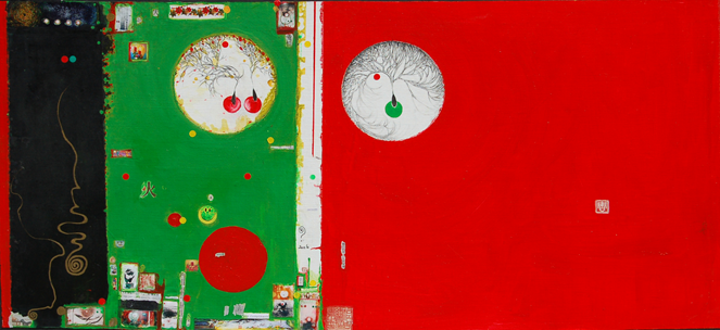 Life is a Many Splendored Thing V 2006 Ink, color and acrylic on canvas 100 x 211 cm  Reverie Collection
